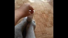Ankle Socks Play POV Footjob