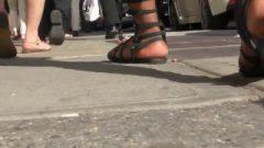 Slightly Dirty Ebony And Ivories Street Feet Walking – Slow Motion