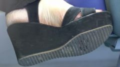 Candid Woman Feet Wedgies How Under Dirty Soles