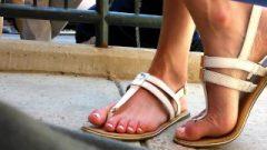 Candid Teacher's Feet Closeup