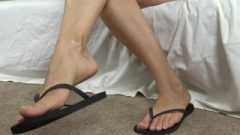 Sliding My Bare Natural Nails And Feet In And Out Of Flip Flops…