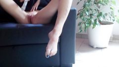 Orgasm On The Couch – I Play, Finger, And Vibrator My Innocent And Wet Petite Pussy