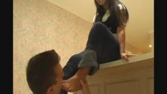 Eating Cock Step-sister's Toes