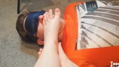 Foot Devotion Boy Licks My Sweety Feet And Toes – Mistress Femdom