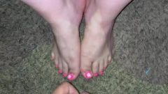 Sperm On Spicy Pink Toes (feet Cum-Shot