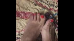 Kissable Indian Feet With Foot Jewelry And Painted Toes