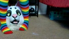 Nori Takes To Taste My Rainbow Toes