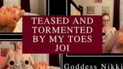 Tormented And Tantalized By My Toes Joi Femdom Goddess Nikki Kit