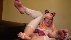 Japanese Young Bare Feet Rubber Toy Jizz – Liz Lovejoy – Lizlovejoy.manyvids.com