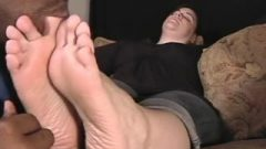 Candy Receives Her Feet Worshipped