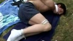 Boy Roped Up And Gagged By Stepsister