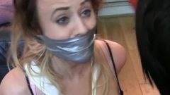 Carlyelle Roped Up And Gagged