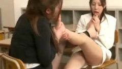 Crazy Asian Sluts Sniffing Each Other's Stinky Feet