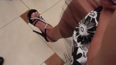 Candid Camera High Heels Hustle Dangling Sandals