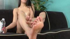 Megan Salinas Greased Breasts And Toes