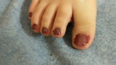Painting My Toenails And Chill. (with Twat Flash.)